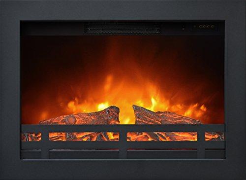 Ruby Fires, Flandria - Insertable para chimenea eléctrica, potencia: 0- 900-1800W, con controles delanteros, apto para empotrar en paredes de yeso o insertar en los marcos Ruby Fires