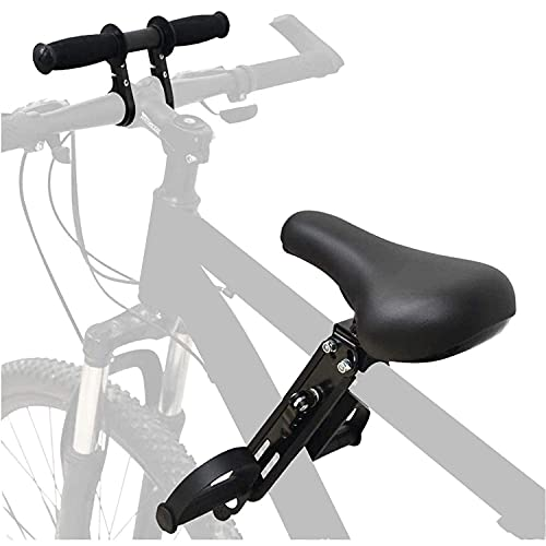 Anforee Asiento infantil para bicicleta de montaña delantera para niños, asiento delantero para bicicleta de montaña con manillar de 2 a 5 años, compatible con todos los adultos MTBs (Seat+Handle))