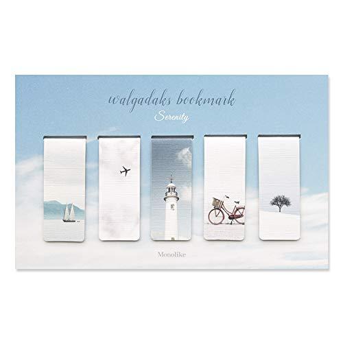 Monolike Magnetic Bookmarks Serenity, Set of 5