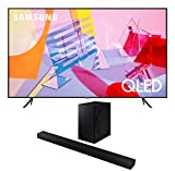 Samsung QN65Q60TA 65' Ultra High Definition 4K Quantum HDR Smart QLED TV With a Samsung HW-T650 Bluetooth Soundbar with Dolby Audio Wireless Subwoofer (2020)