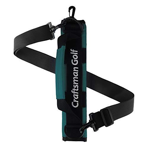 CRAFTSMAN GOLF Tragbare Mini-Tragetasche, Schultertasche, ideal für Golfplatz, Golftasche, Tragegurt, grün
