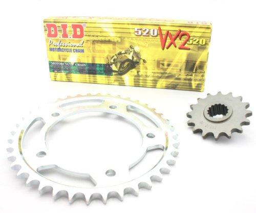 D.i.d kit chaîne x-ring yA.010. 04–933.01.6 pour yamaha fZ6 fazer modèles 2007–2010 aBS/s2 (chaîne de type vX, couleur acier, extra renforcée)