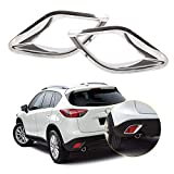 New 2Pcs Chrome Rear Fog Lights Lamp Mask Cover Trim For Mazda Cx-5 Cx5 2012 2013 2014 2015