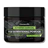 Elemensis Naturals charcoal teeth whitening powder activated coconut Charcoal powder proven to remove