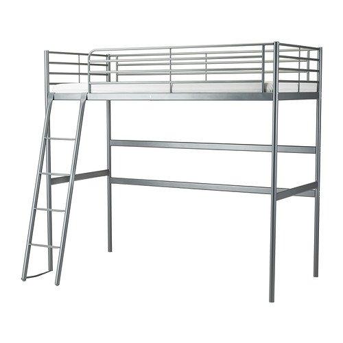 IKEA(イケア) SVARTA ロフトベッドフレーム シルバーカラー