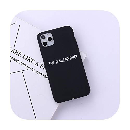 Cita rusa eslogan de la cubierta del teléfono para iPhone 11 Pro Max X XS XR Max 7 8 7Plus 8Plus 6S SE suave de silicona caramelo fundas