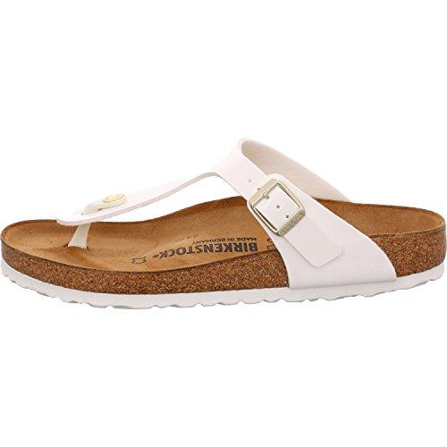 Birkenstock Gizeh Regular Fit Patent White 1005299-43 EU