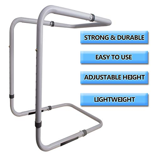 [Upgraded] Adjustable Heavy Duty Blanket Lifter - Blanket Cradle for Feet - Steel and Aluminum Lift Bar Support Frame on Bed for Neuropathy, Foot Cramp, Sensitive Feet, Surgery Recovery, Gout 20-28'