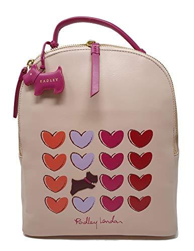 Radley 'Love me Always' Backpack Rucksack Handbag in Pink Leather