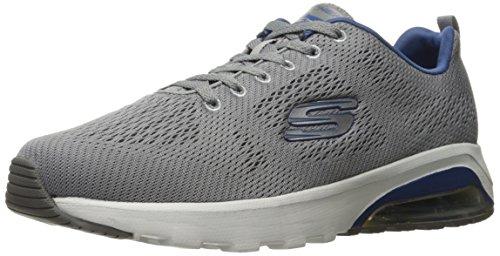 Skechers Skech-Air Extreme-Natson, Zapatillas de Entrenamiento para Hombre, Gris (Light Grey/Navy), 42.5 EU