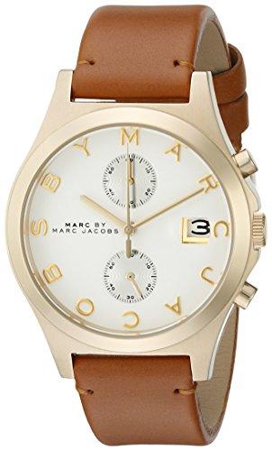 Marc by Marc Jacobs Women's MBM1396 The Slim Chrono Analog Display Quartz Beige Watch