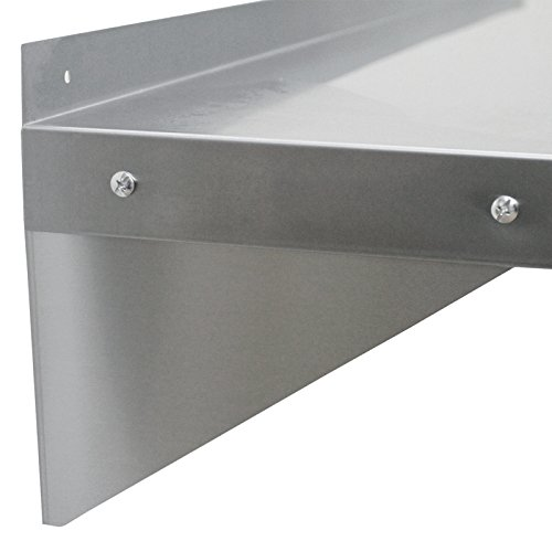 2 x KuKoo Commercial Stainless Steel Shelves Kitchen Wall Shelf Catering Corrosion Resistant & Free Microfiber Cloths…