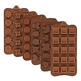 Silicone Cioccolato Caramelle,6 Pezzi Stampi da Forno Stampo,Stampo Silicone Cioccolato,An...