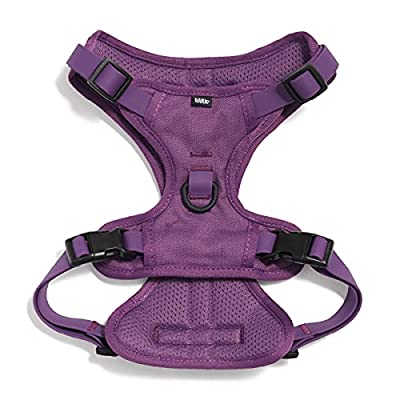 Barkbox Small, Large, X-Large, Medium Dog Harness, No-Pull - Adjustable Mesh and Rubber Harness | Durable, Water Resistant, & Machine Washable | for Dogs and Cats | (Size: Medium, Color: Purple) from Barkbox