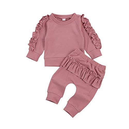 3CKIZCE - Conjunto de body para bebé y niña, con estampado de leopardo y pantalón y diadema para bebés de 0 a 24 meses B-rosa. 18-24 Meses