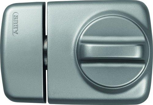 ABUS Tür-Zusatzschloss 7510 mit Drehknauf für Türen mit schmalen Rahmenprofilen, silber, 58916