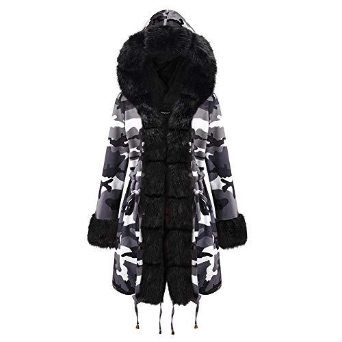 BIXUYAO Womens Winter Hooded Coats/Mid-length Parka Jacket Faux Bont Gevoerd Warm Losse Jas