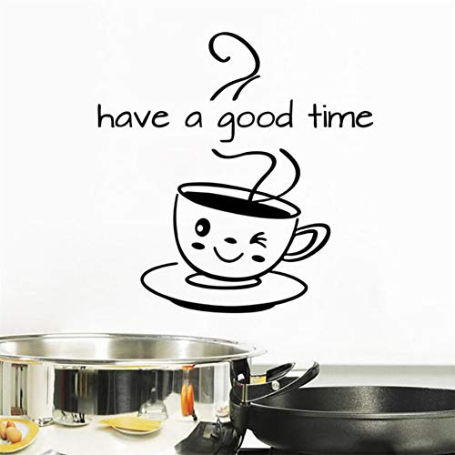 Ellepigy Adhesivo decorativo para pared, diseño de texto en inglés 'Have a Good Time'