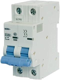 ASI NDB2-63C10-2 DIN Rail Mount Circuit Breaker, UL 1077 Supplemental Protection, 10 amp, 2 Pole, 240/480V, General Purpose Trip Curve C
