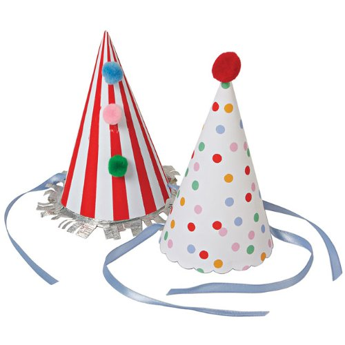 Toot Sweet Party Hats - Pack of 8