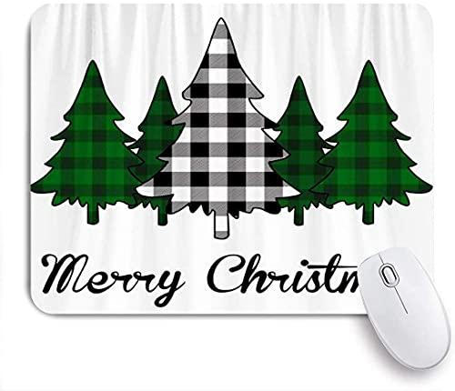 Gaming Mauspad, Frohe Weihnachten Plaid Bäume rutschfeste Gummi Backing Mousepad für Notebooks Computer Mausmatten