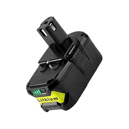 SHGEEN P108 - Batería de repuesto para Ryobi P108, P107, P105, P104, P103, P102, RB18L25, RB18L50, RB18L40, RB18L15, BPL-1815 y BPL-1820 G BPL18 151 con indicador LED