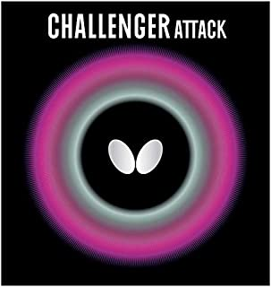 Butterfly Challenger Attack Table Tennis Rubber Table Tennis Rubber   1.5 mm, 1.9 mm, or 2.1 mm   Red or Black   1 Pips Out Table Tennis Rubber Sheet   Professional Table Tennis Rubber