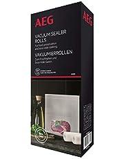 AEG AVSR1 - Dos rollos de bolsas (6 metros). Rollos de envasado VS4-1-4A (Apto para Nevera y congelador, conservar, cocer al vacío, 7 Capas, Resistente a roturas, se Puede Cortar, Transparente)