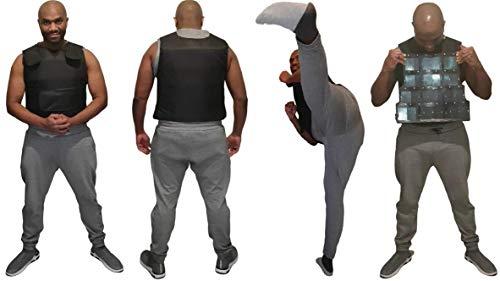 SIMEON TUITT UK BRAND Stab Resistant Vests Knives Stabbing Resistant Tactical Vest Black Jacket With Steel Plates Vest Knife Crime Proof Vest For Stab Protection Against Blades (S - 3XL Size)