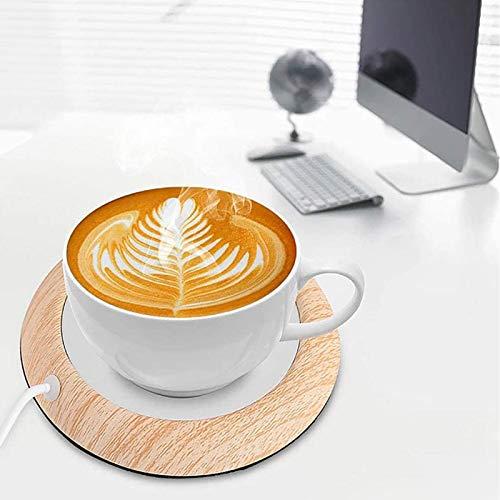 UniM Calentador de Cafe, USB Calentador de Tazas electrico con Base Antideslizante, Calentador de Taza de cafe Posavasos Calefactor para Leche cafe te, Calentador de Bebidas para Oficina en casa