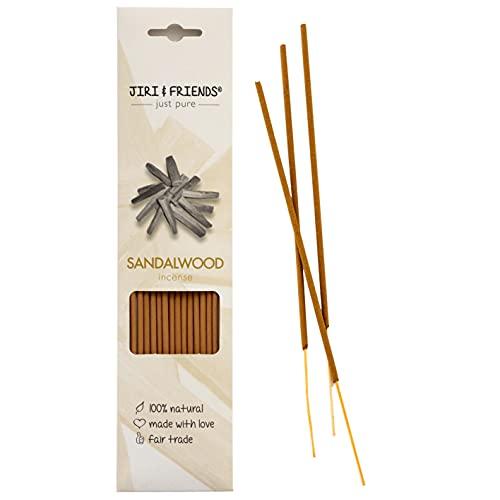 Jiri and Friends - Varillas de incienso (madera de sándalo, 100 % natural, comercio justo, 15...