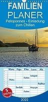 Peloponnes - Einladung zum Chillen - Familienplaner hoch (Wandkalender 2022 , 21 cm x 45 cm, hoch): Peloponnes - Eine Einladung zum chillen und kulturen (Monatskalender, 14 Seiten )