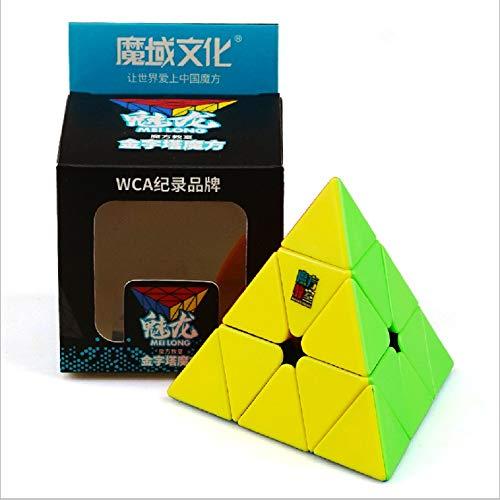 MoYu MoFangJiaoShi Cubing Classroom MeiLong 3x3 Pyramid Pyraminx Triangle Magic Cube Speed Puzzle Cube Toy Stickerless