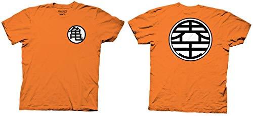 T-Shirt -Orange Dragon Ball Z - Kame Symbol,X-Large