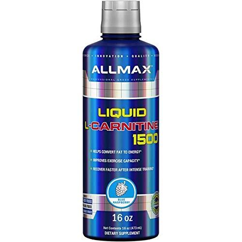 AllMax Nutrition Liquid L-Carnitine 1500, Blue Raspberry, 554 g