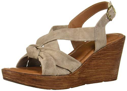 Bella Vita Women's Bella Vita Wes-Italy slingback sandal Shoe, Almond Italian suede leather, 8.5 N US