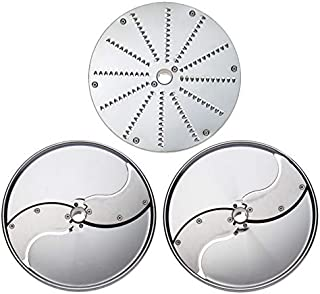 Pack Bistrot 3 Disques Inox - Trancheur 2 et 5 mm Râpeur 2 mm - Dito Sama -