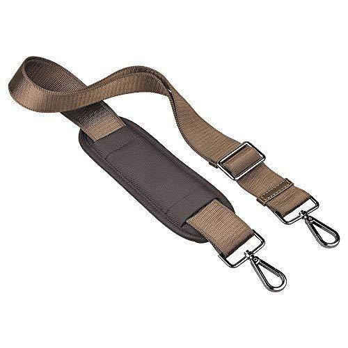 Qishare Universal Replacement Shoulder Strap Pet Carrier Strap Detachable Soft padded Adjustable Belt with Metal Swivel Hooks (Khaki,150cm)