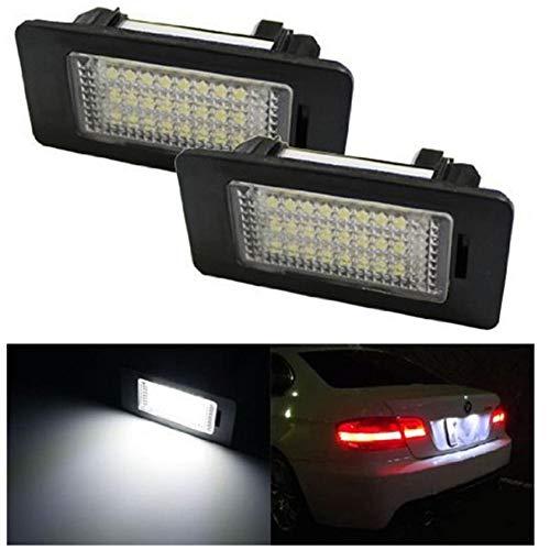 Lámpara LED placa Número de licencia de las bombillas del automóvil del coche LED placa de luz de lámpara en forma for el BMW 1/3/5 / X Series X1X3X5X6 (Color Temperature : Negro)