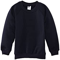 Crew-neck sweatshirt with rib welt and cuffs designed with raglan sleeves Low bobble can be tumble dried