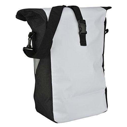 Fischer Gepäckträger Tasche, weiß, 55 x 13 x 25 cm, 18 Liter - 2