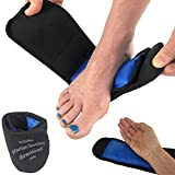 gr8ful® Gel Ice Pack | Sports Injuries, Pain & Swelling | Reusable Hot/Cold Therapy Wrap for Plantar Fasciitis, Sprains & Achilles Tendonitis (Foot, Ankle, Wrist & Elbow treatment) Adults or kids