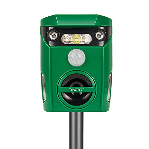 Diaotec Ultrasonic Animal Repellent, Solar Powered Only $21.00 (Retail $49.99)