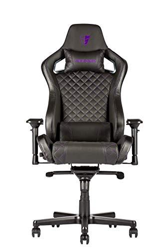 Preisvergleich Produktbild Tesoro Zone X Schwarz / Lila Gaming Stuhl F750 Gaming Chair Chefsessel Schreibtischstuhl mit PU Kunstleder und Lordosenstütze Lendenkissen Black / Purple