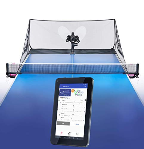 Butterfly Amicus Prime Table Tennis Robot—Best Ball Launcher/Thrower/Shooter for Your Ping Pong Table—Free Carry Bag, Remote, Tech Support, 120 Balls—Play Or Practice Ping Pong Anytime