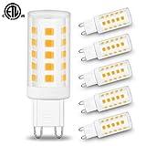 G9 Led Bulbs,Golspark 4W Chandelier Light Bulbs (40W Halogen Equivalent),3000K Soft White, G9 Bi Pin Base,Non-dimmable,360 Degrees Beam Angle,350LM,Pack of 6