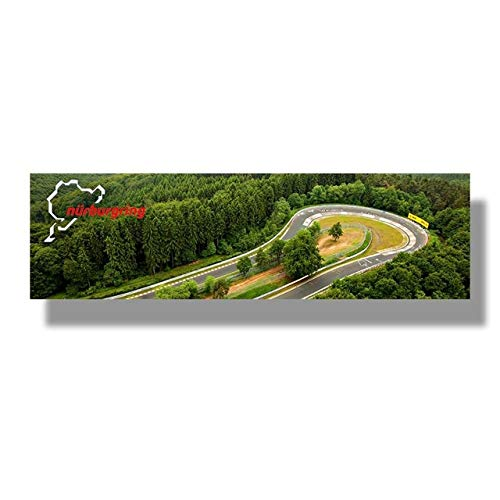 zxddzl Nürburgring Spur Sportwagen Spur HD Druck Leinwand Malerei Wald Landschaft Kunst Poster Dekoration
