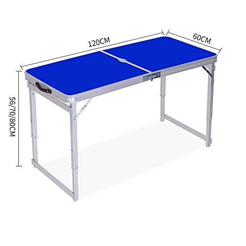 PULLEY-S Aleación de aluminio plegable de la tabla Puesto plegable al aire libre del hogar Tabla plegable mesa de comedor y silla portátil pequeña mesa plegable for el partido de picnic barbacoa con a