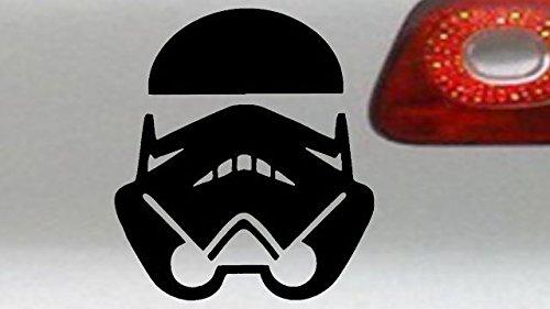 ORACAL FOLIEN MADE IN GERMANY Auto Aufkleber 12x10cm – Star Wars Stormtrooper Sticker (Schwarz)