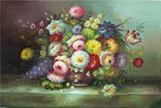 Oil Painting 'Still Life With Colorful Flowers', 20 x 30 inch / 51 x 76 cm , on High Definition HD canvas prints is for Gifts And Dining Room, Gym And Kitchen Decoration, print image on